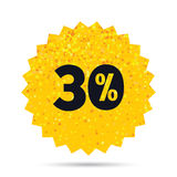 30 percent discount sign icon. Sale symbol. Stock Images