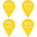 70 percent discount sign icon. Sale symbol Royalty Free Stock Images