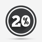 20 percent discount sign icon. Sale symbol. Special offer label. Circle flat button with shadow and border. Vector vector illustration