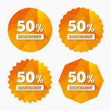 50 percent discount sign icon. Sale symbol. Royalty Free Stock Photo