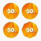 50 percent discount sign icon. Sale symbol. Stock Photo