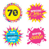 70 percent discount sign icon. Sale symbol. Royalty Free Stock Photo