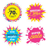 70 percent discount sign icon. Sale symbol. Stock Image