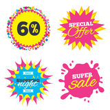 60 percent discount sign icon. Sale symbol. Stock Photography