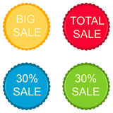30 percent discount sign icon. Special offer label. Stars stickers. Vector Royalty Free Stock Image