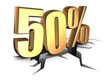 50 percent Stock Image