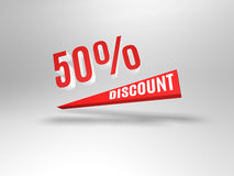 50 percent discount symbol. Royalty Free Stock Image
