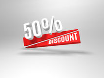 50 percent discount symbol. Stock Photos
