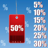 Percent discount tag Stock Photo