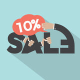 10 Percent Discount Typography Design. Vector Illustration Royalty Free Stock Image