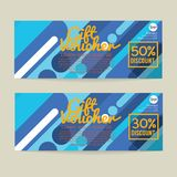 30 - 50 Percent Discount Voucher Template. Vector Illustration Stock Images