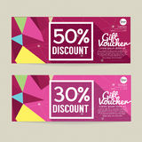30 - 50 Percent Discount Voucher Template. 30 - 50 Percent Discount Voucher Template Vector Illustration Stock Images