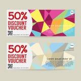 50 Percent Discount Voucher Template. 50 Percent Discount Voucher Template Vector Illustration Stock Photos