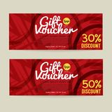 30 - 50 Percent Discount Voucher Template Royalty Free Stock Images