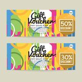 30 - 50 Percent Discount Voucher Template. Vector Illustration Royalty Free Stock Photography
