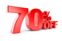 70 percent discount Stock Image
