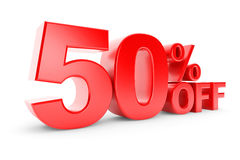 50 percent discount Stock Image