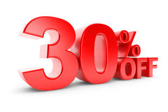 30 percent discount. On a white background Royalty Free Stock Image