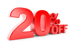 20 percent discount. On a white background Stock Image