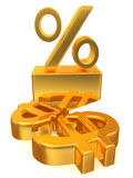 Percent on dollar Royalty Free Stock Image
