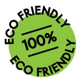 100 percent eco friendly label. On white background royalty free illustration