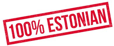 100 percent Estonian rubber stamp Royalty Free Stock Photo