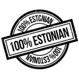 100 percent Estonian rubber stamp. Grunge design with dust scratches. Effects can be easily removed for a clean, crisp look. Color is easily changed Royalty Free Illustration