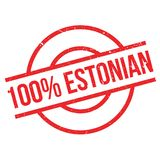 100 percent Estonian rubber stamp. Grunge design with dust scratches. Effects can be easily removed for a clean, crisp look. Color is easily changed Vector Illustration