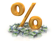 Percent with euro Stock Images