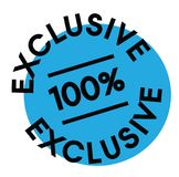 100 percent exclusive label. On white background Sign, label, sticker royalty free illustration