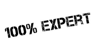 100 percent expert rubber stamp. On white. Print, impress, overprint Royalty Free Stock Photography