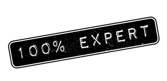 100 percent expert rubber stamp. On white. Print, impress, overprint Stock Images