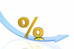 Percent fall Stock Image
