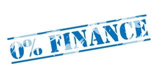 0 percent finance blue stamp. Isolated on white background Stock Illustration