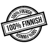 100 percent Finnish rubber stamp Royalty Free Stock Photography
