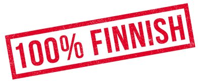 100 percent Finnish rubber stamp Royalty Free Stock Image