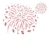 Percent fireworks design on white background Royalty Free Stock Photography