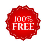 100 percent free badges and stickers. Design Royalty Free Stock Photo
