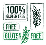 100 percent free gluten. Over white background  illustration Royalty Free Stock Photos