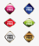 100 percent free label tag set vector Royalty Free Stock Images