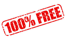 100 percent FREE red stamp Stock Image
