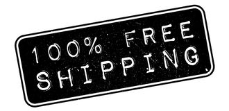 100 percent free shipping rubber stamp. On white. Print, impress, overprint Stock Photography