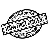 100 percent Fruit Content  rubber stamp. Grunge design with dust scratches. Effects can be easily removed for a clean, crisp look. Color is easily changed Royalty Free Stock Photo