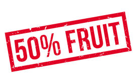 50 percent fruit rubber stamp. On white. Print, impress, overprint Royalty Free Stock Images