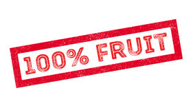 100 percent fruit rubber stamp. On white. Print, impress, overprint royalty free illustration
