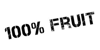 100 percent fruit rubber stamp Stock Photography