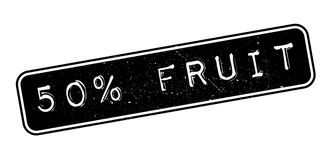 50 percent fruit rubber stamp. On white. Print, impress, overprint Vector Illustration