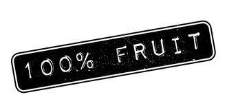 100 percent fruit rubber stamp Royalty Free Stock Photo
