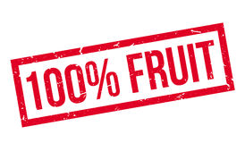 100 percent fruit rubber stamp. On white. Print, impress, overprint vector illustration