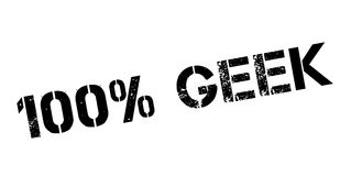 100 percent geek rubber stamp. On white. Print, impress, overprint Royalty Free Stock Image